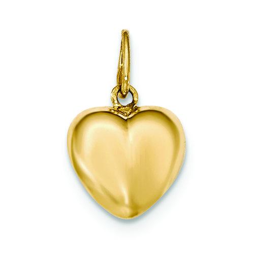 14k polished puffed heart pendant troy jewelers 14k polished puffed heart pendant mozeypictures Choice Image