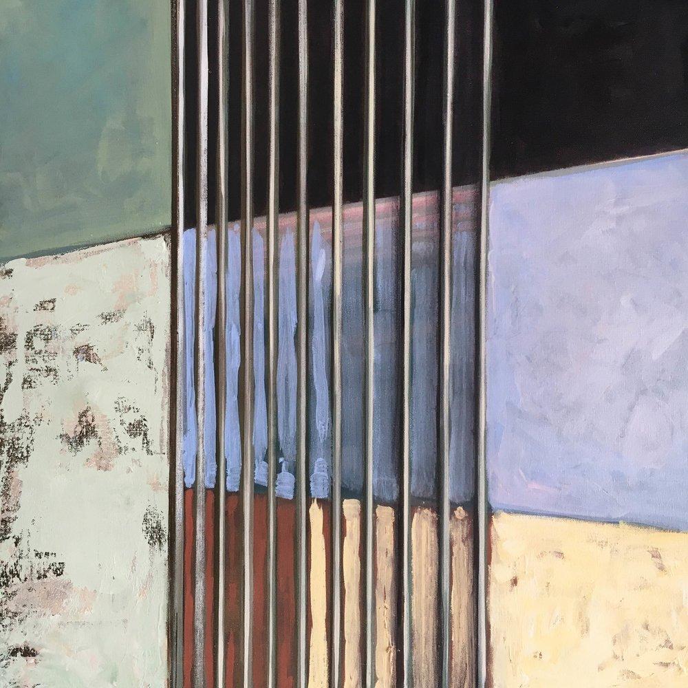 "Painting ""Forbidden"" Acrylic on canvas Nathalie Tierce"