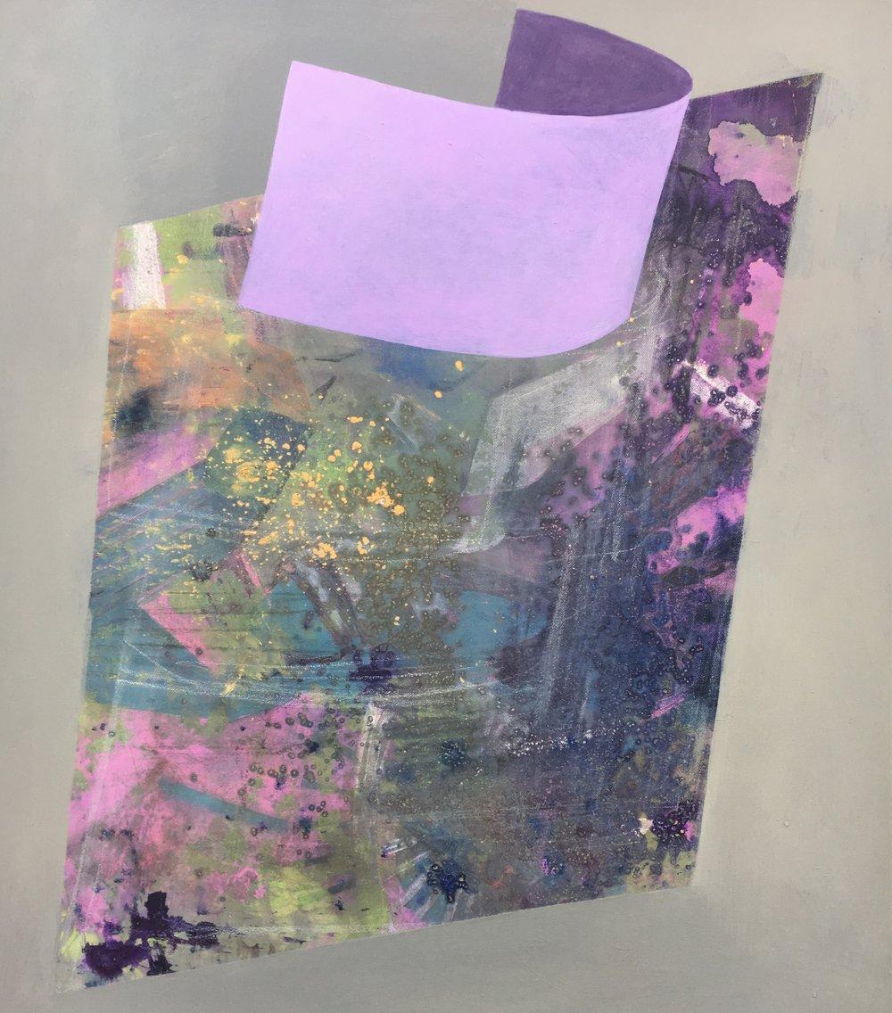 """Unfurled"" Acrylic on Canvas 2017"