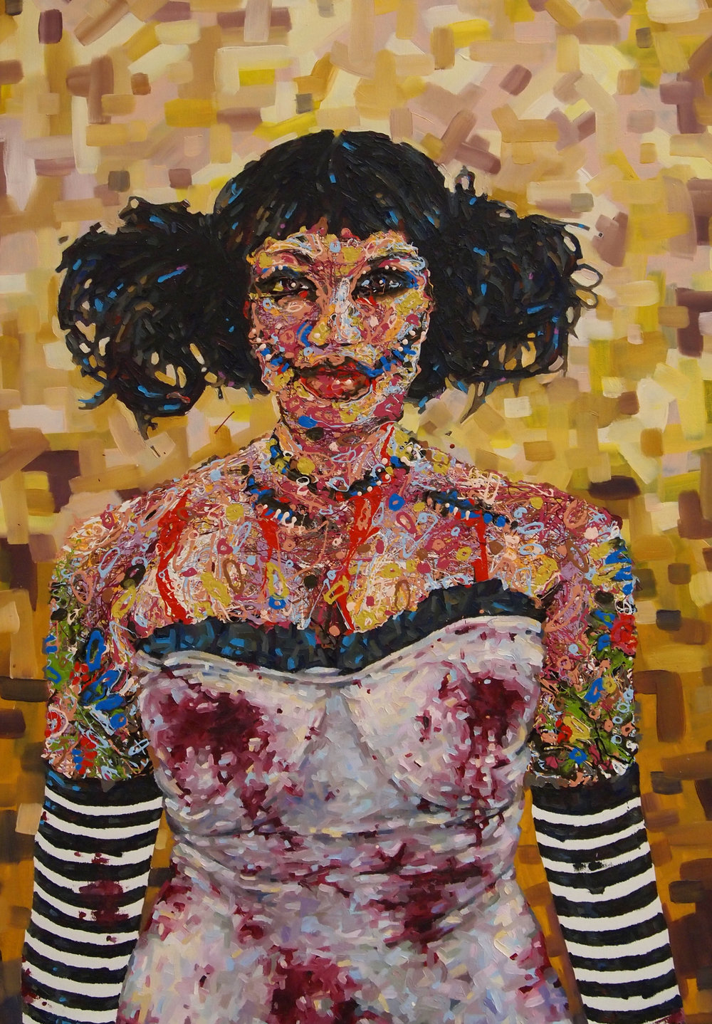 2012 zombie girl oil and acrylic on canvas 32x50  SOLD.jpg