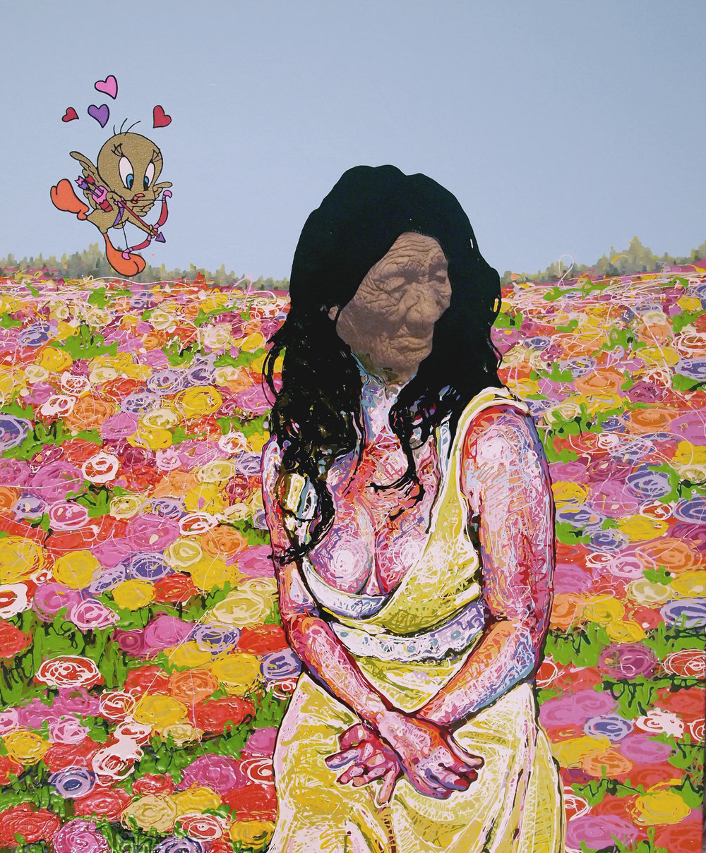 2013 Her Heart Beneath acrylic enamel and photo on canvas 38x46.jpg