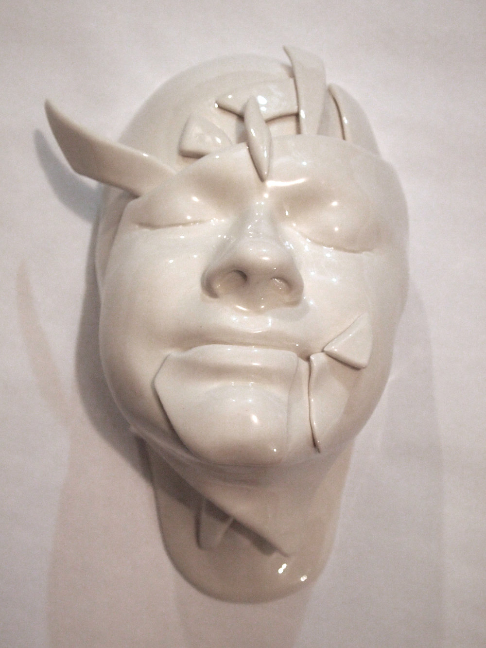 Craig Paul Nowak Ceramic Face art shattered