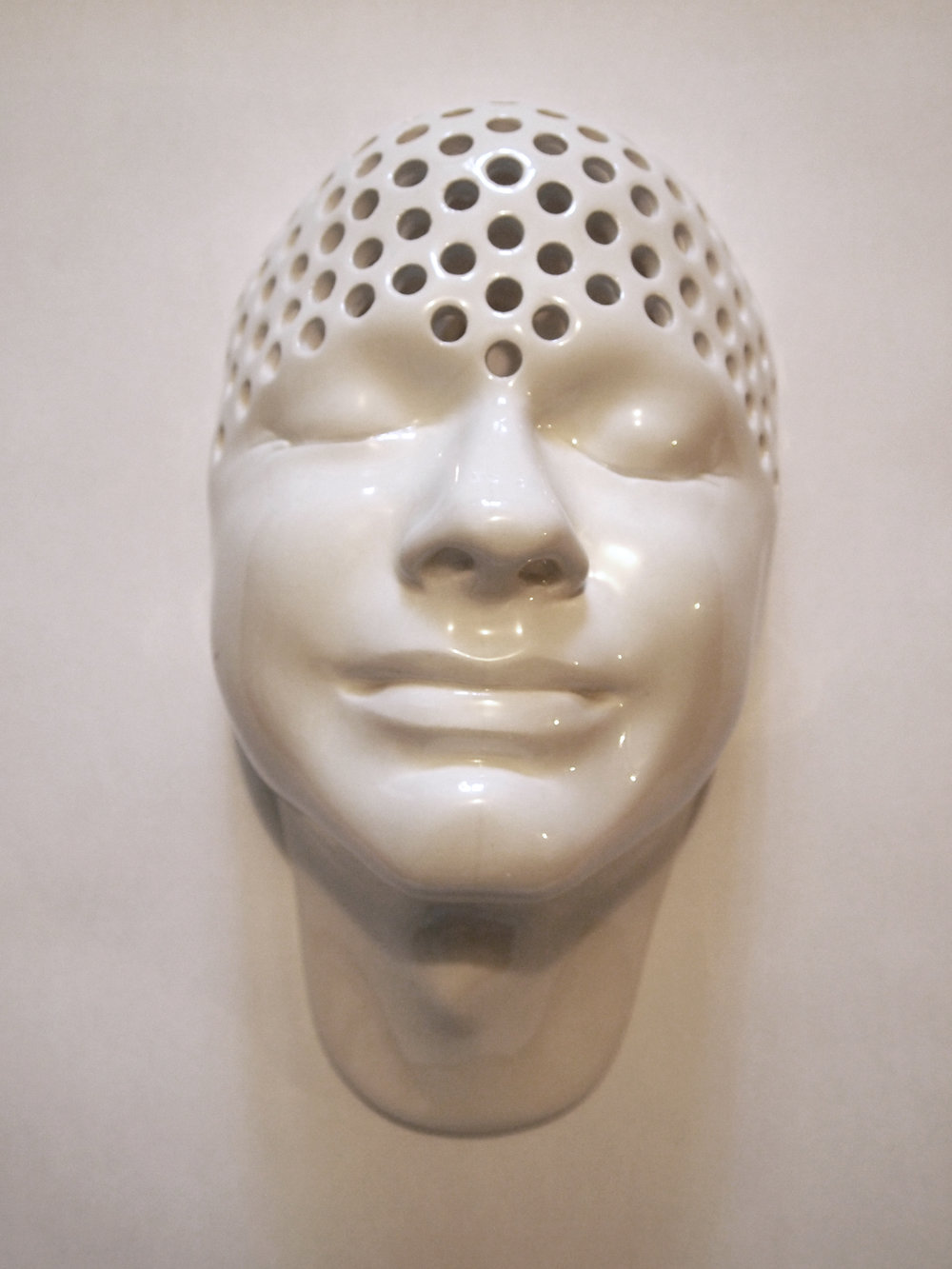 Craig Paul Nowak ceramic face holy art sculpture