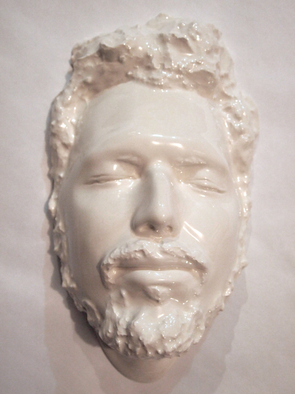 Craig Paul Nowak ceramic face art sculpture