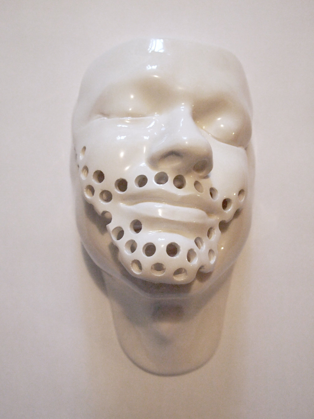 Craig Paul Nowak art ceramic face sculpture beard