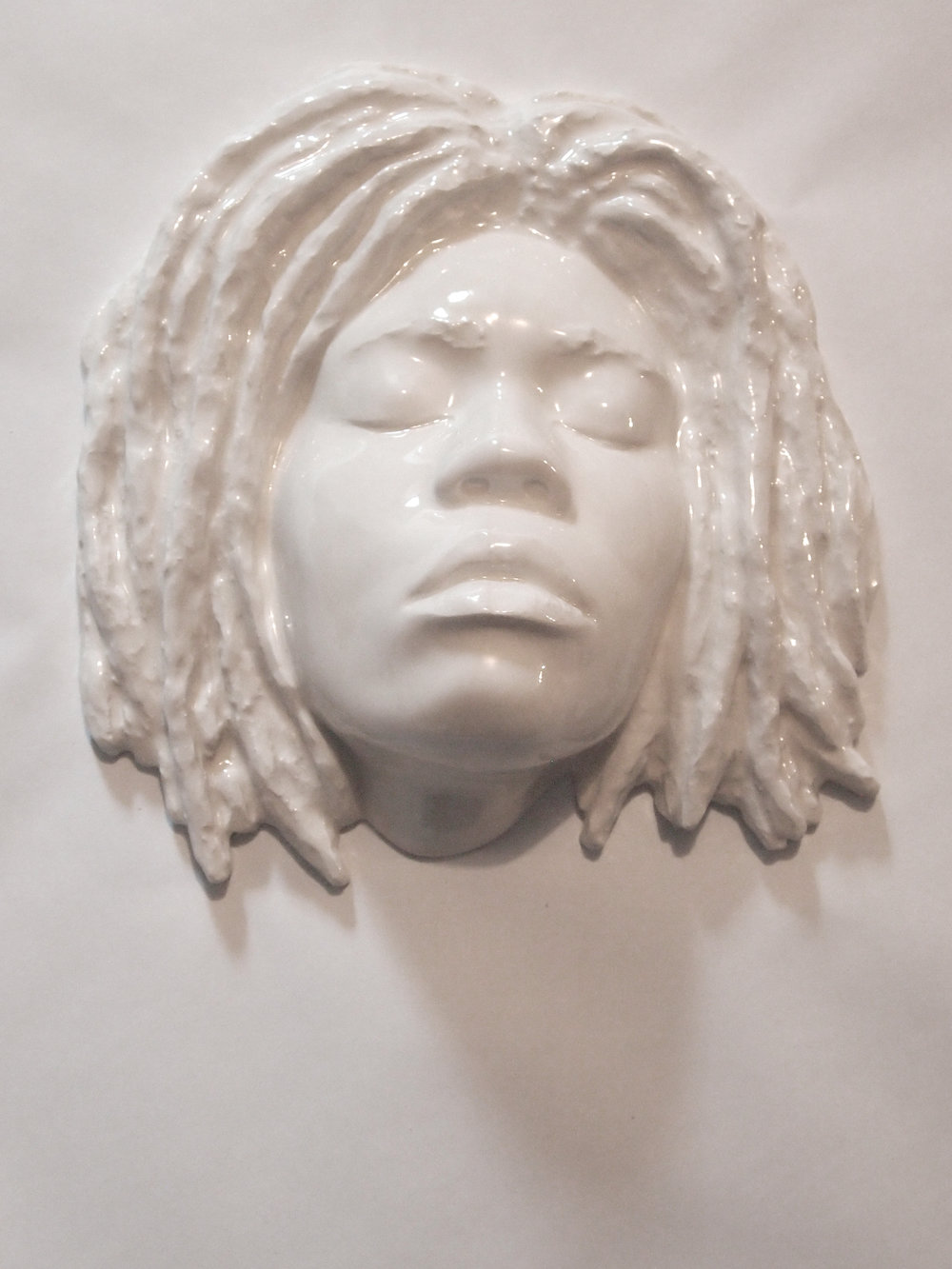 Craig Paul Nowak art ceramic face sculpture