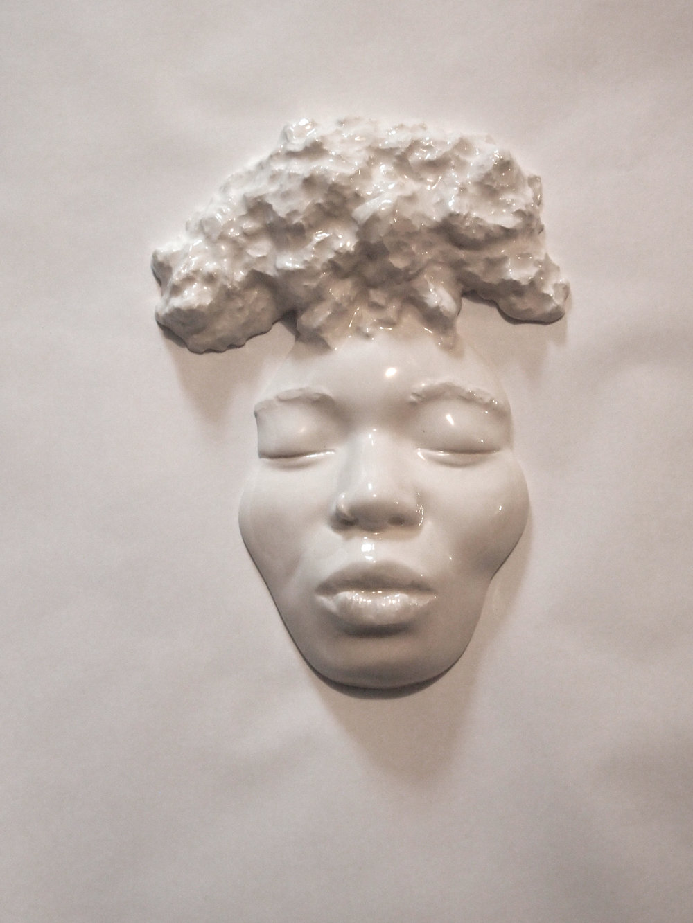 Craig Paul Nowak art sculpture face afro