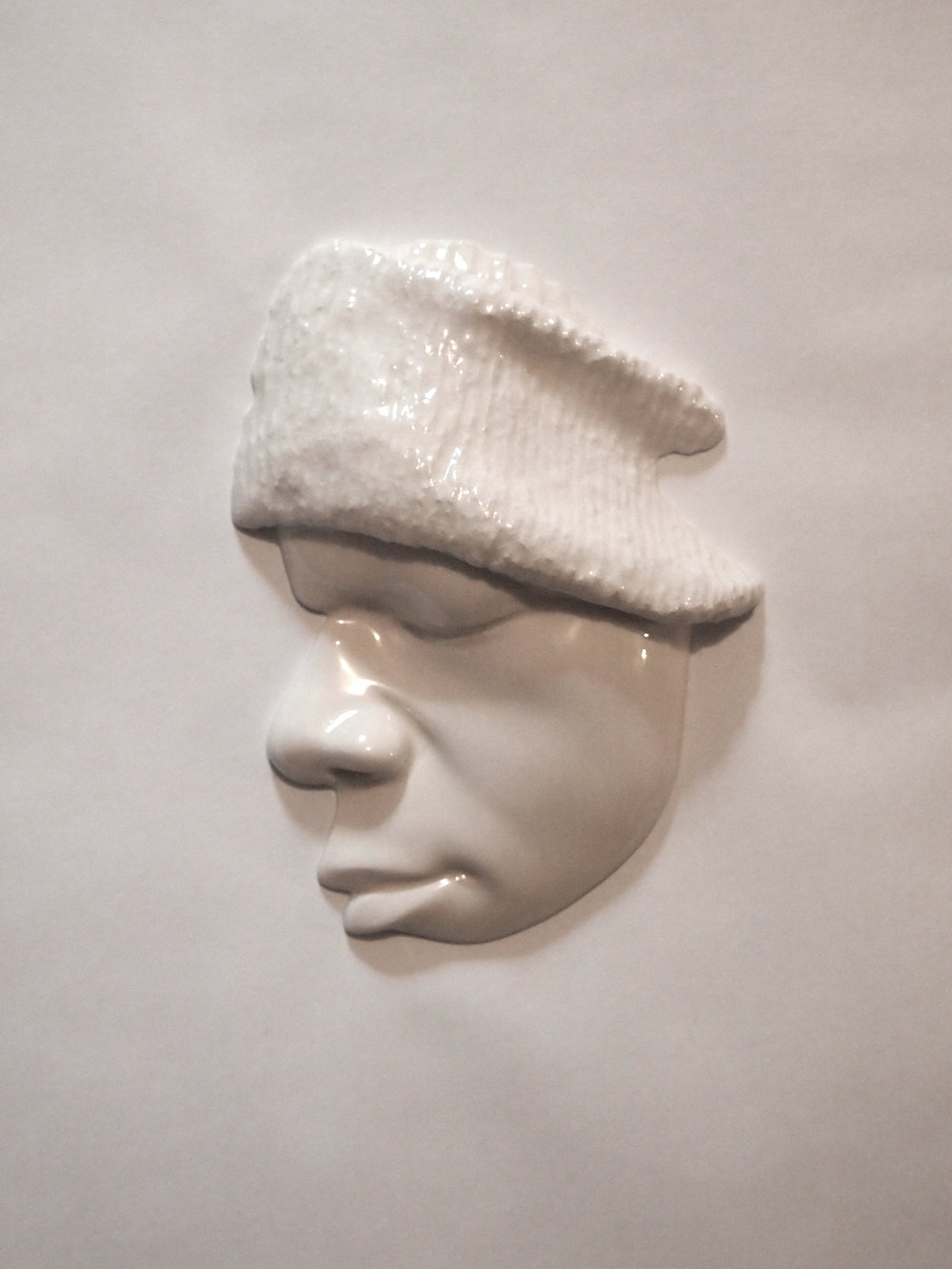 Craig Paul Nowak art face sculpture hat