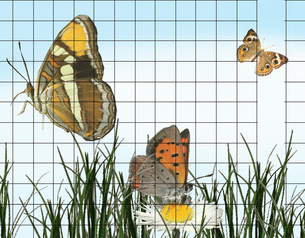 The Butterflies mural proposal for Rice Child And Family Center