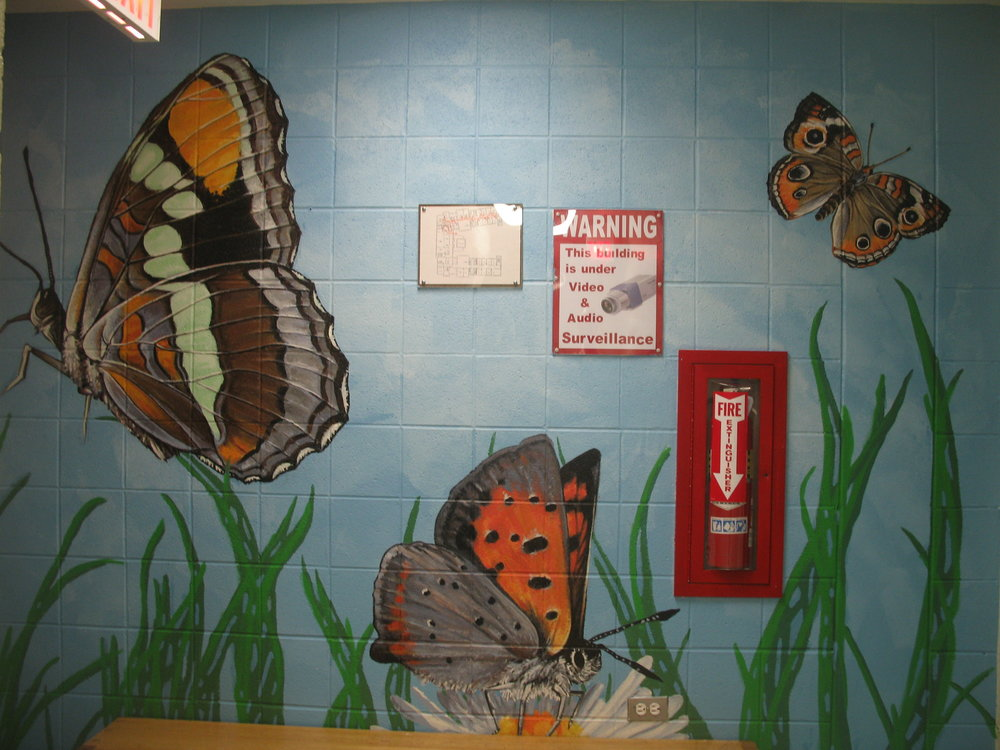The Butterflies mural at Rice Child and Family Center