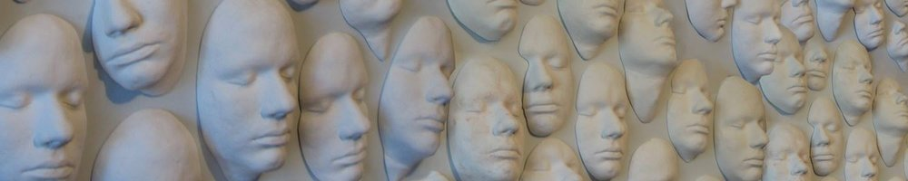 art installation faces Craig Paul Nowak