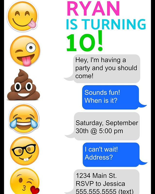 Getting ready for our next party...emoji explosion! #bestpartiesever #makingmemories #emojiparty #emojiexplosion #doubledigits #boyparty #poopemoji #simplyperfect