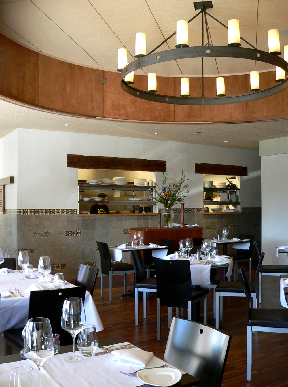 interior photo of the dining room of Arugula Restaurant