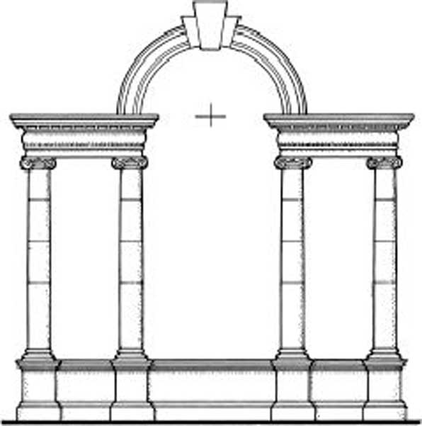 Architect 39 s glossary palladian window or serliana m for Balcony meaning in english