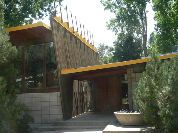 Sampson House, designed by Tician Papachristou, 1958, Boulder, Colorado