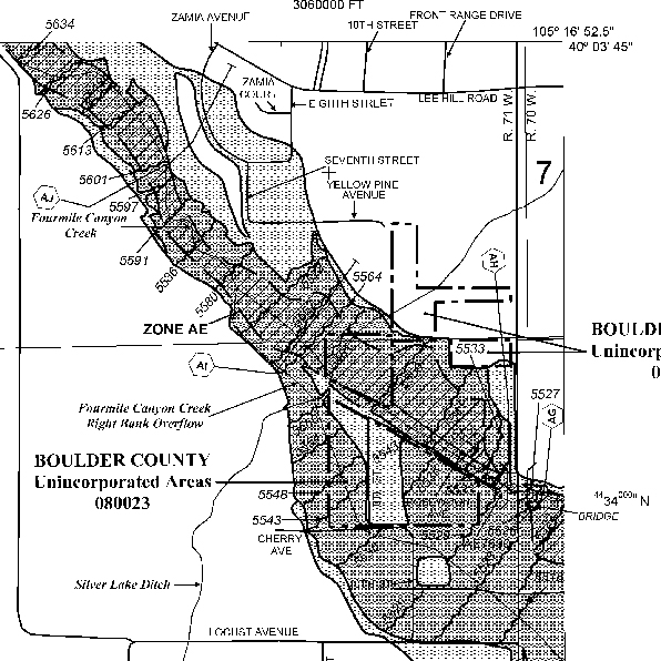Boulder Flood map 01