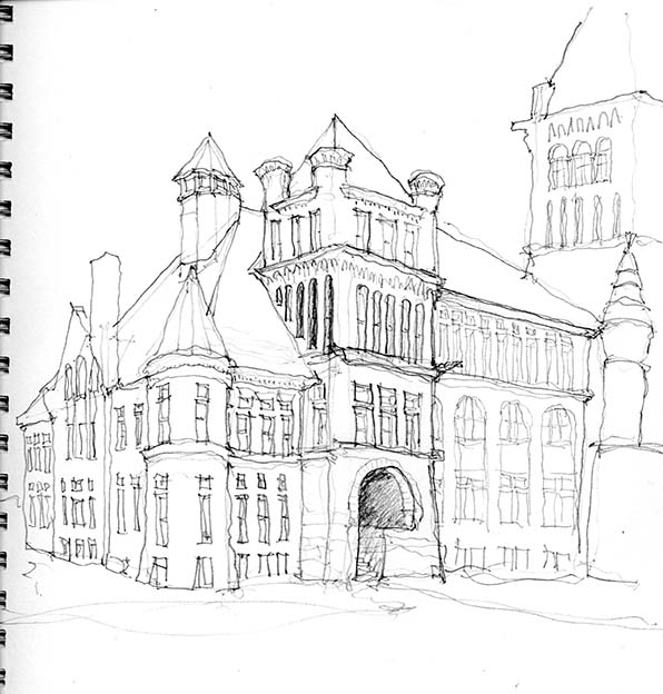 Westminster University sketch 01