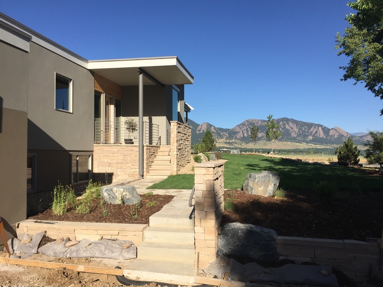 exterior entry, Cherryvale house, by M. Gerwing Architects, Boulder, Colorado