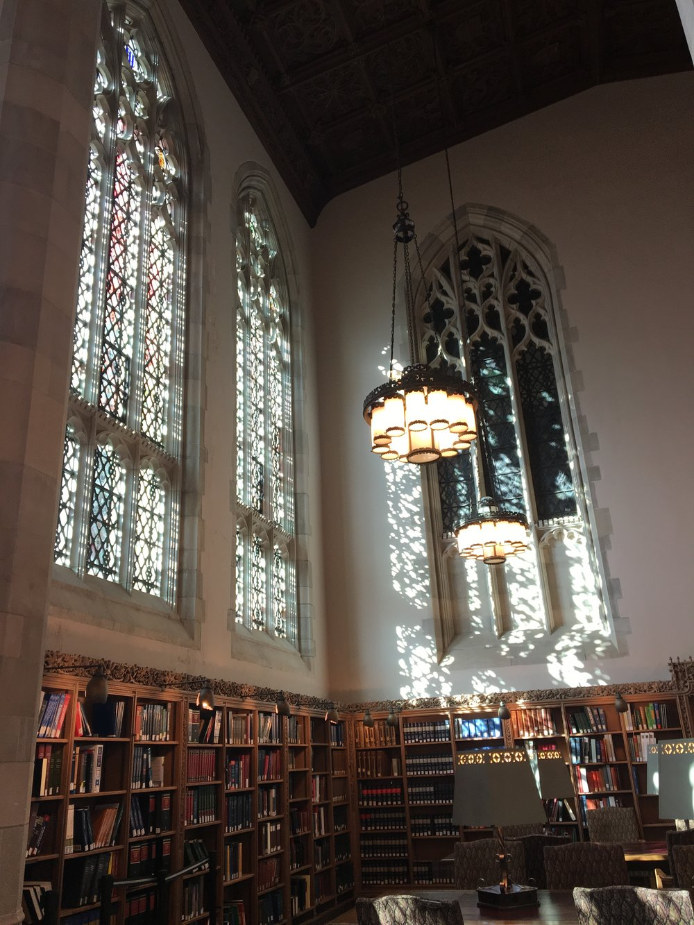 Yale University library reading room