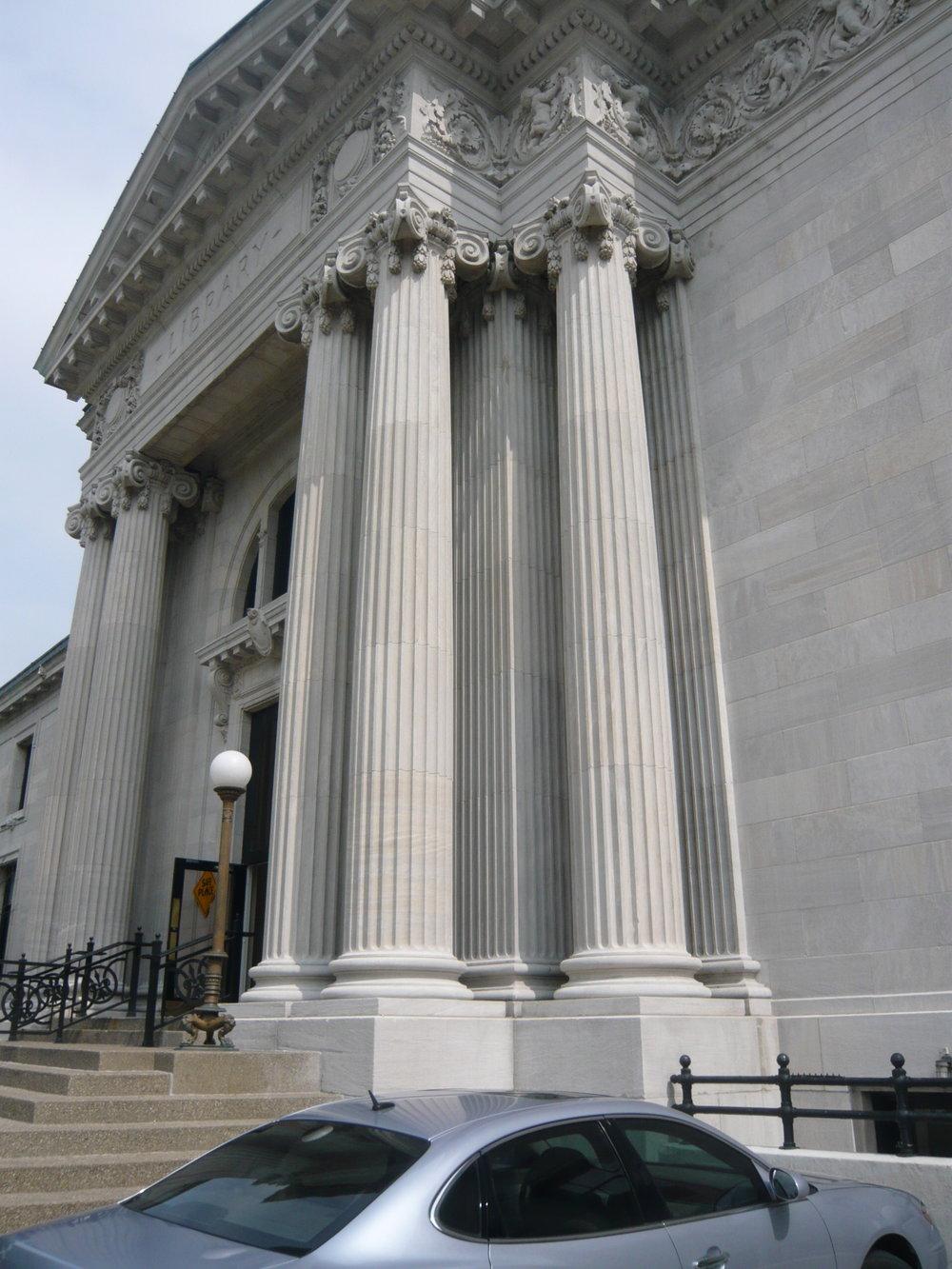 Louisville Public Library columns