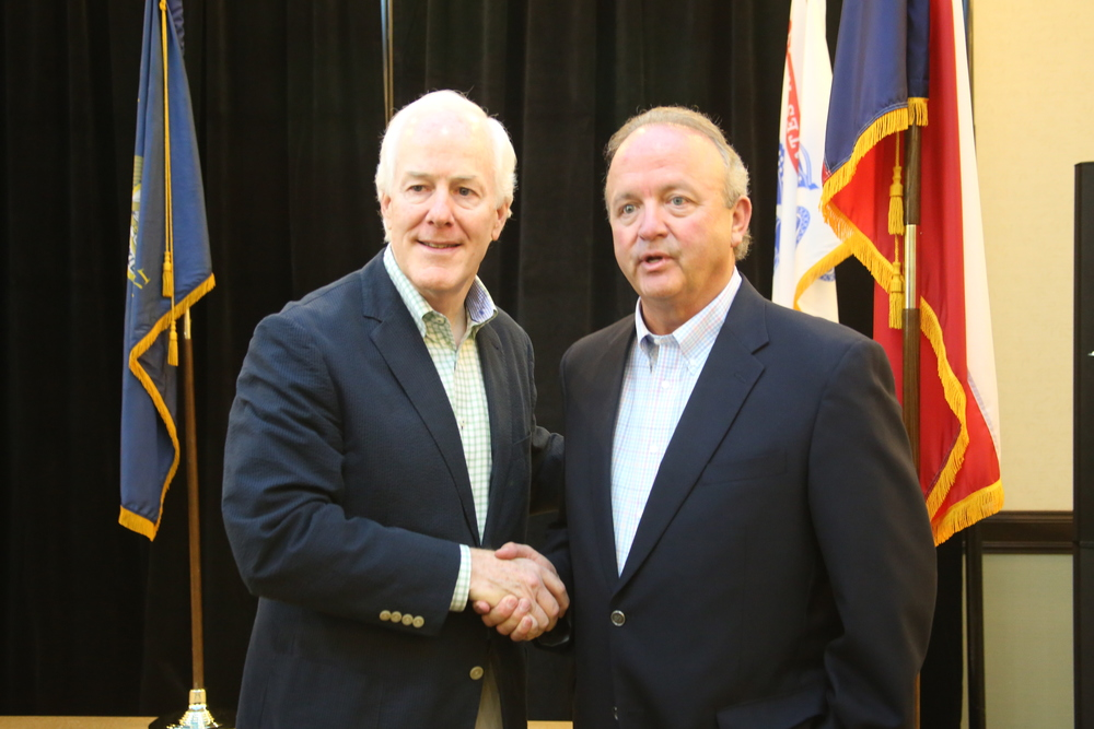 With United States Senator John Cornyn