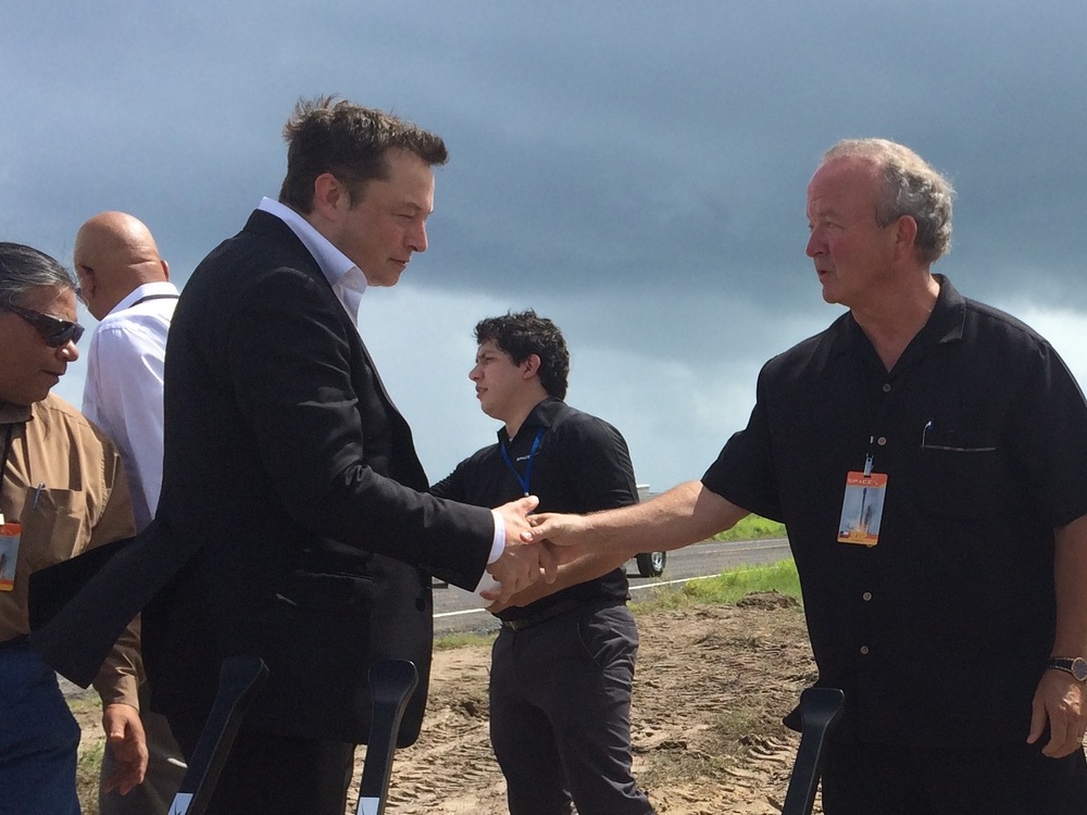 With Space X Founder Elon Musk