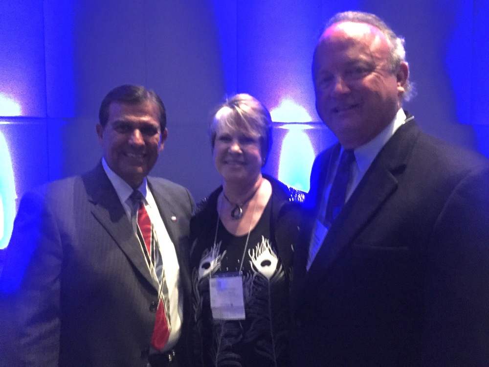 With Senator Eddie Lucio Jr., City Councilwoman Theresa Metty at the Texas Travel Industry Convention.
