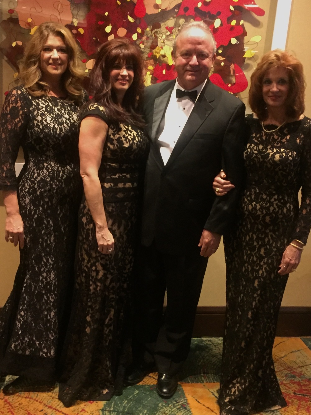 With my Daughters Natalie Stahl Ward, Karen Stahl Crump, and wife Anna.