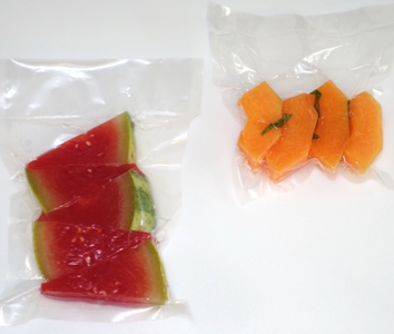 Compressed Melon Vacuum sealing creates a textural change without the need of heat
