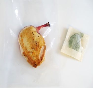 Brined & Seared Chicken with Fresh Herbs To prevent bitter spots on foods, wrap fresh herbs in a tea bag, or mix with oil to provide a protective barrier