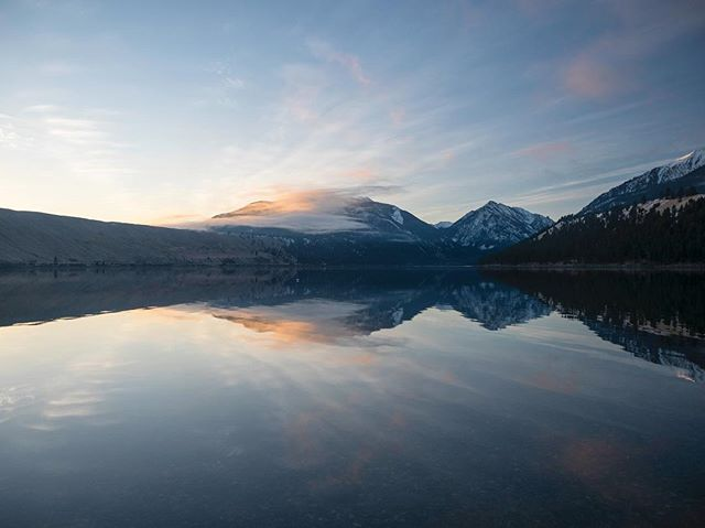 Dragged ourselves out of our cozy room at the Jennings Hotel to catch sunrise on Wallowa Lake. More please?