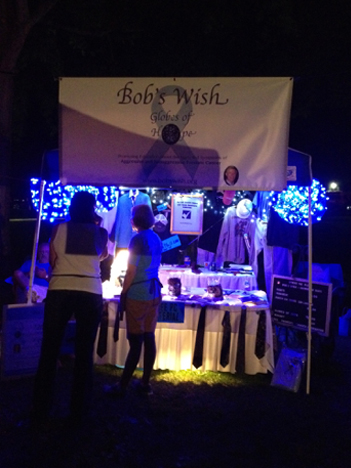 Bob's Wish - Globes of Hope tent at the Wheeling Cancer Relay for Life event.
