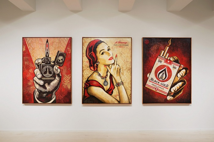 Shepard Fairey's On Our Hands. Photograph: Jacob Lewis Gallery