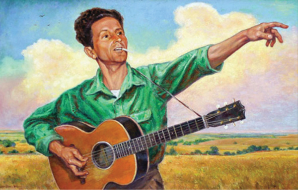 """With songs like """"This Land is Your Land"""" and """"So Long It's Been Good To Know Yuh"""" a talented group of four actor/musicians bring to life the many people who formed the fabric of Woody Guthrie's story in Woody Sez."""