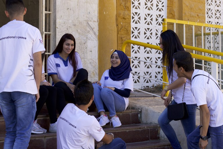 Generations for Peace volunteers in Tripoli, Lebanon.SOURCE  COURTESY OF GENERATIONS FOR PEACE