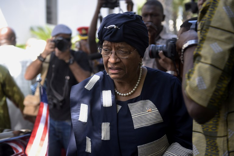 Liberian President Ellen Johnson Sirleaf. SOURCE  SEYLLOU/GETTY