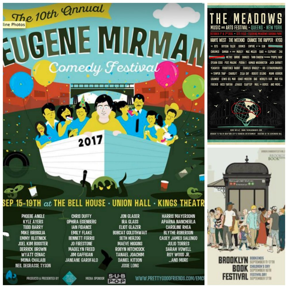 Wow, the festivals are in full force this weekend. Just a few previewed here to whet your appetite for the New York scene.