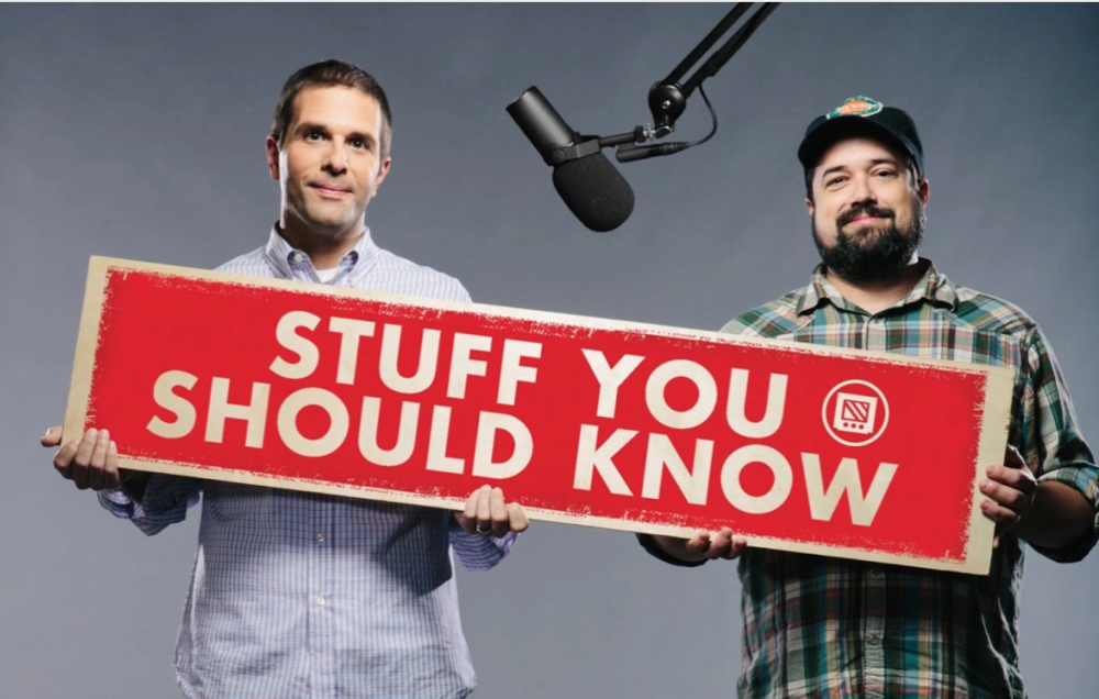 Chuck Bryant and Josh Clark will happily tell you about Stuff You Should Know, so see them at a taping of their podcast at the Bell House this week.