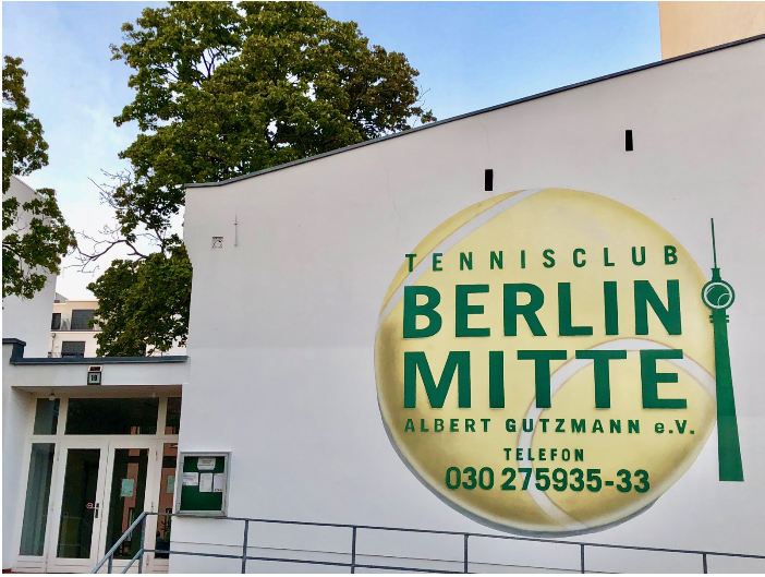 """The Tennisclub Berlin Mitte Albert Gutzmann, e.V., known to regulars as the """"Mitte"""", came into existence in the middle of the fall of the Berlin Wall and is now fighting the occupying forces of gentrification. The Mitte must turn its three outdoor courts 90 degrees or otherwise figure out how to make room for another school in growing East Germany."""