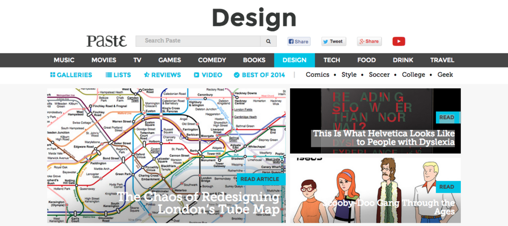 FEATURES | London + Typography + Dyslexia + Scooby-Doo