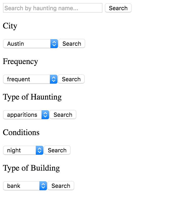 initial search filter