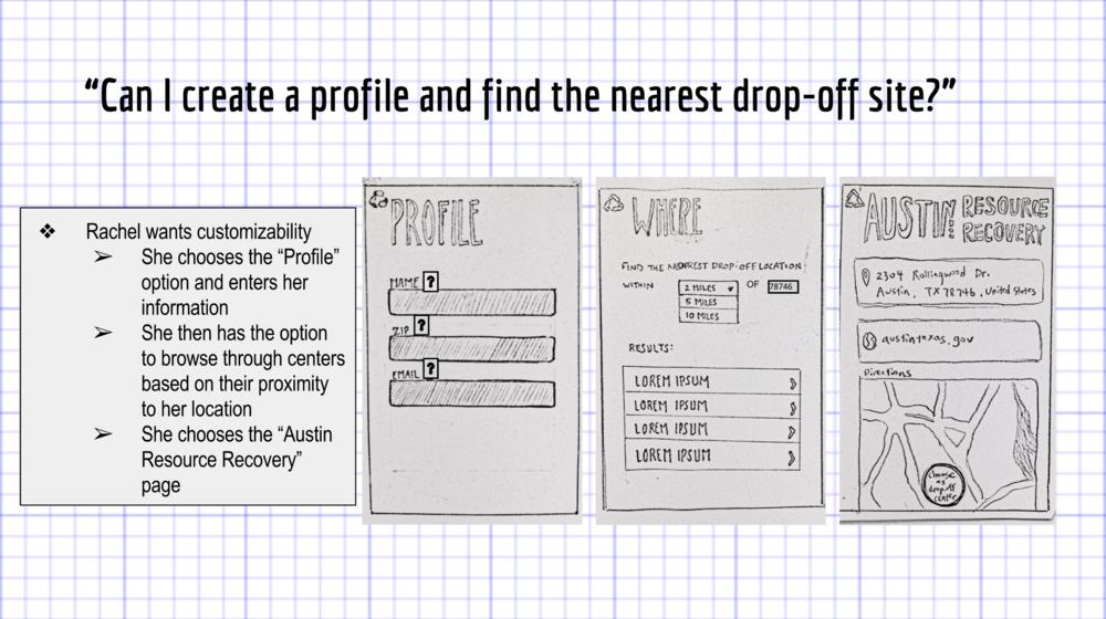 Looking for drop-off site with zip code