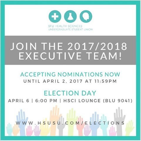 Want to make an impact in the HSCI community? Nominations now open for all 2017/18 HSUSU exec positions. Learn more: http://ow.ly/6Afs30a3Shk
