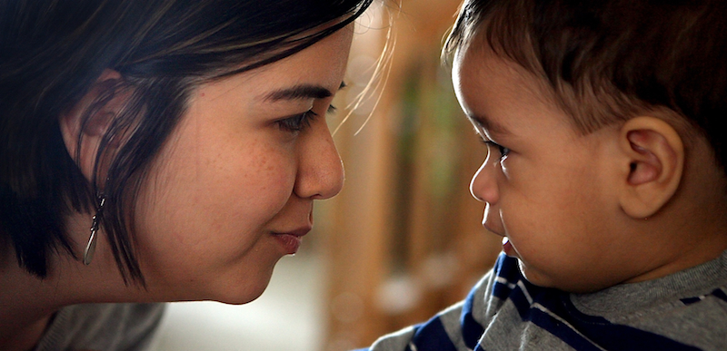 Jeannette & her son Axel, from a bilingual health education campaign for Chicago's HealthConnect One.  Photo courtesy Charles Osgood.