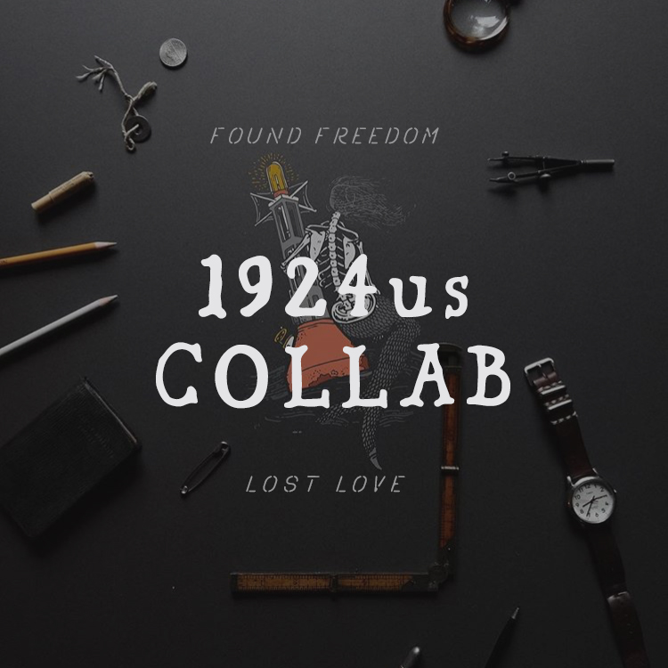 1924us COLLAB  CONCEPT, HAND LETTERING, POSITIONING & PACKAGING