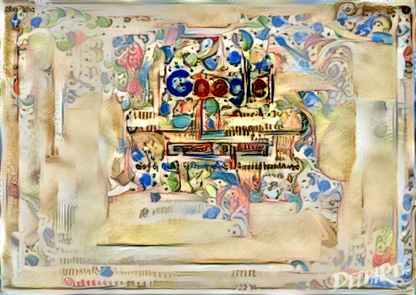 Google homepage as illuminated manuscript