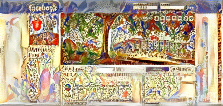 The facebook page of Marriott Library as illuminated manuscript.