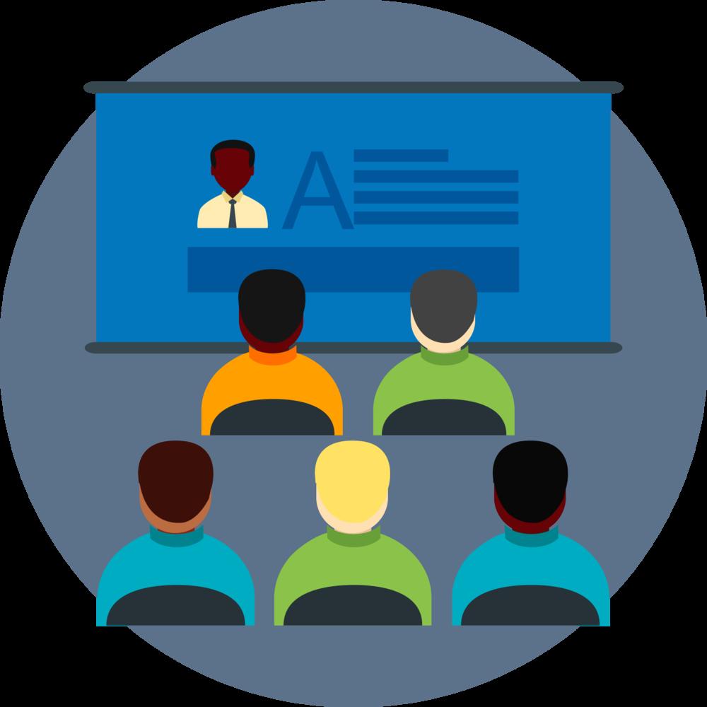 classroom training graphic