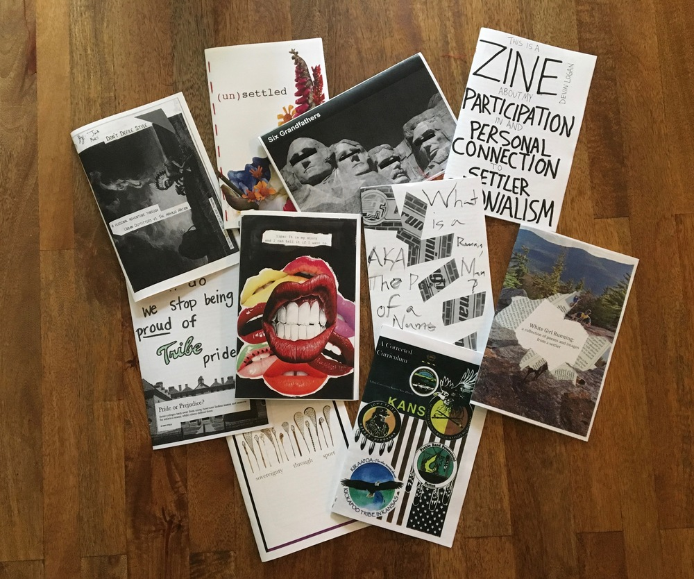 In Spring 2016, students created zines.