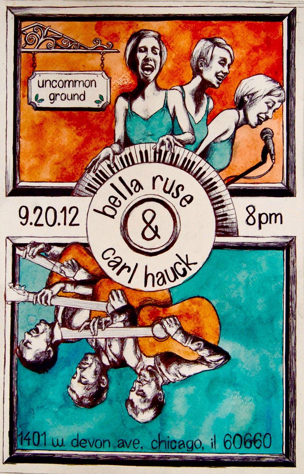 Uncommon Ground 2012, bic pen, sharpie &watercolor